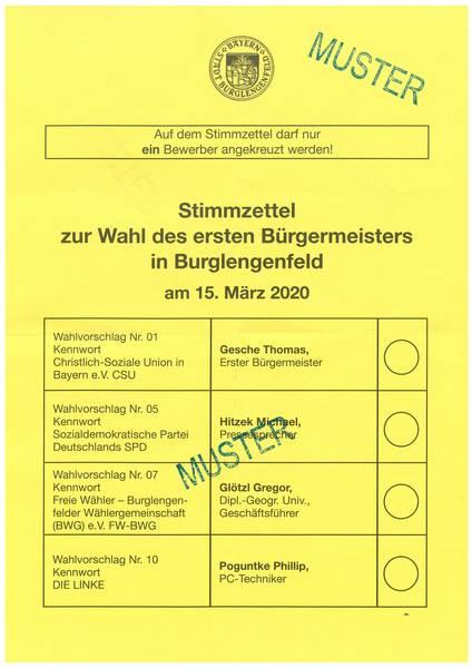 Informationen Zur Kommunalwahl In Burglengenfeld Stadt Burglengenfeld